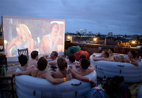 HOT TUB ROOFTOP CINEMA AT THE ROCKWELL HOUSE IN LONDON