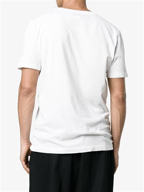 Gucci Cotton Fake Logo T-shirt in White for Men - Lyst