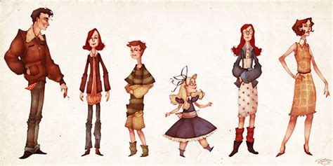 Glass Castle Characters (Character Designs) on Behance