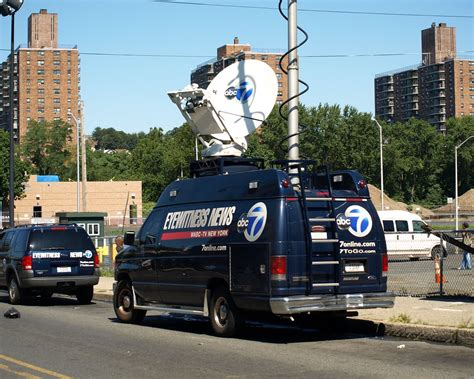 ABC Channel 7 Eyewitness News Communications Truck on West