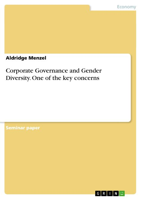 Corporate Governance and Gender Diversity