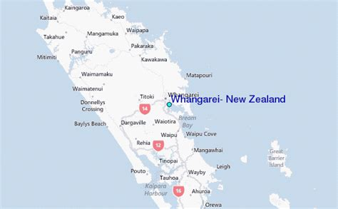Whangarei, New Zealand Tide Station Location Guide