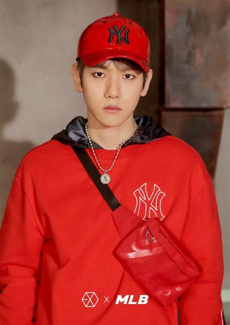 EXO get sporty for 'EXO x MLB' photoshoot   allkpop