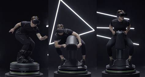 Riding an animatronic horse while wearing a VR headset is