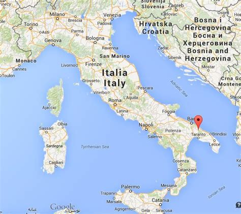 Where is Alberobello on map of Italy