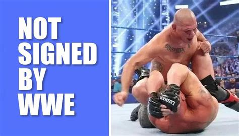 Brock Lesnar's nightmare Cain Velasquez not signed by WWE