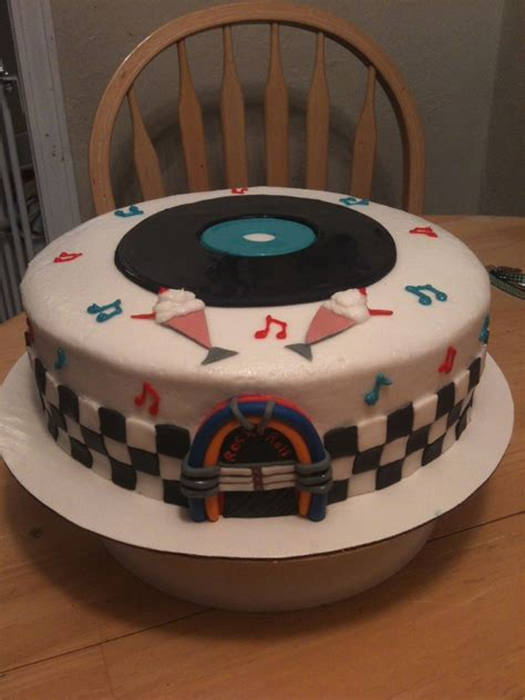 50S Rock And Roll Cake - CakeCentral