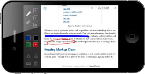 Now On Your iPhone, SyncPad Marks PDFs From Your Pocket