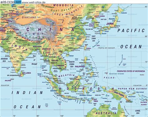 Map of Far East (Asia) (General Map / Region of the World