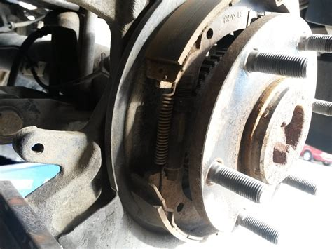Parking Brake shoe replacement-actuator issue - Nissan