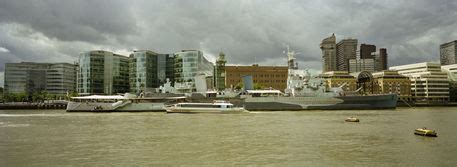 """""""Buildings at the waterfront, Thames River, London"""